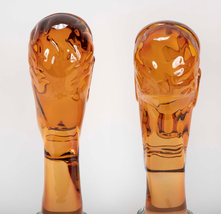 Homage to Amedeo Modigliani Pair of Murano Glass Figures  For Sale 2