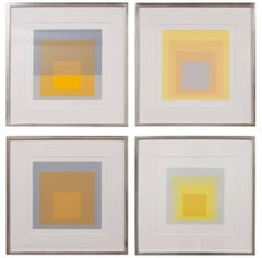 Set of Four Josef Albers Prints from the Series Formation and Articulation