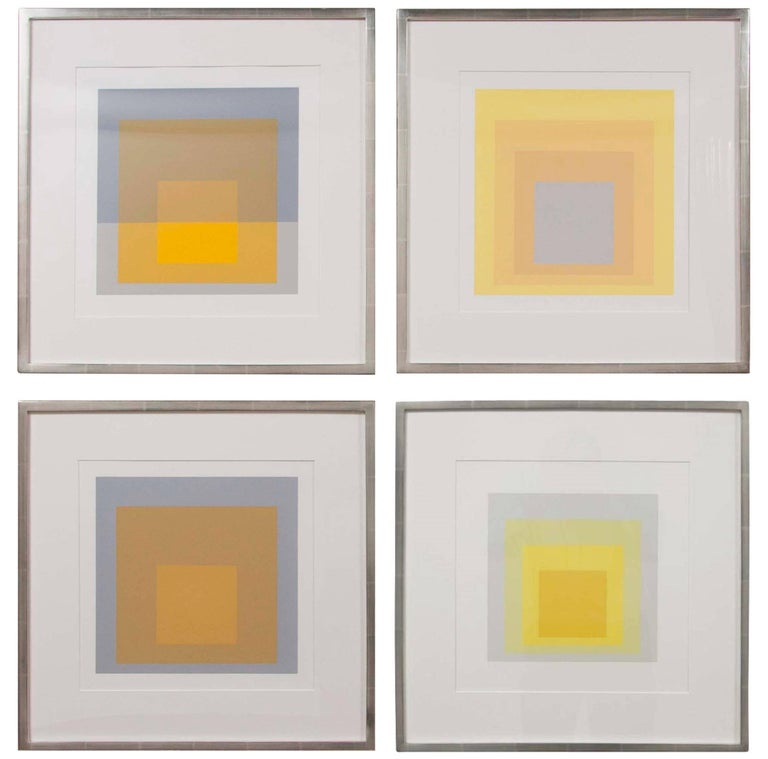 josef albers prints from the series formation and articulation for sale at 1stdibs