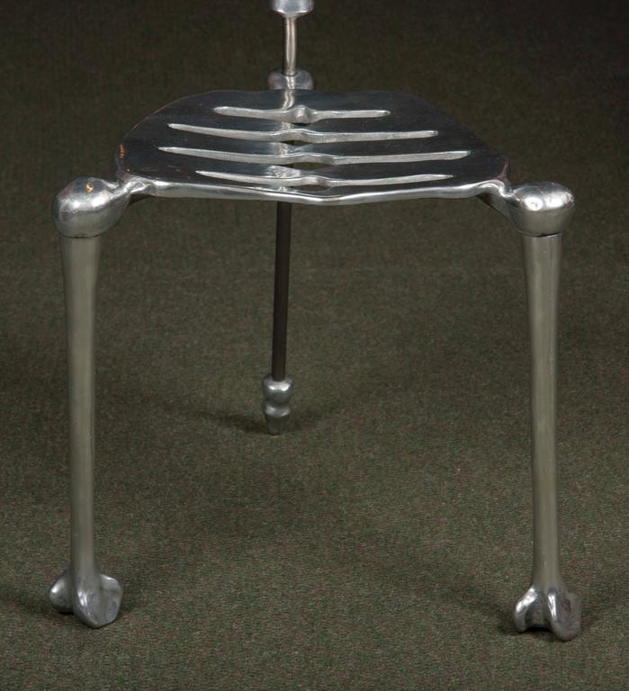 Polished Aluminum Skeleton Form Chair At 1stdibs