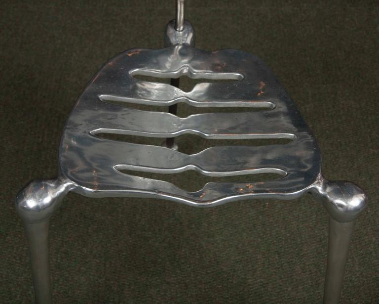 Polished Aluminum Skeleton Form Chair At 1stdibs