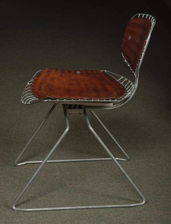 Modern Set of Eight Beaubourg Chairs Designed by Michel Cadestin and Georges Laurent For Sale