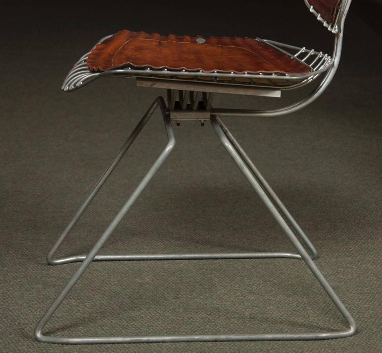 Late 20th Century Set of Eight Beaubourg Chairs Designed by Michel Cadestin and Georges Laurent For Sale