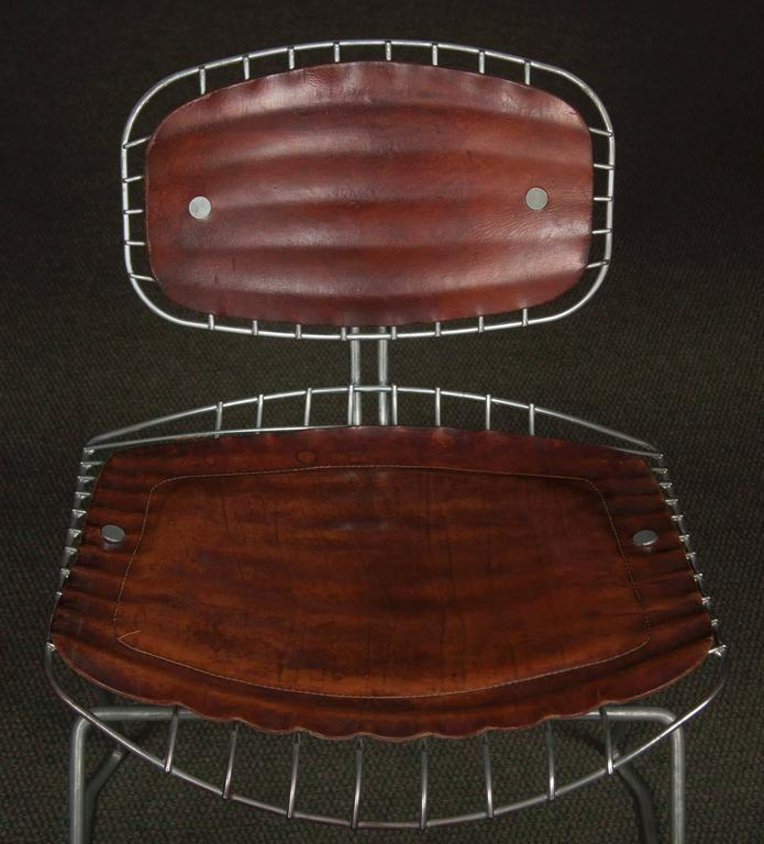 Metalwork Set of Eight Beaubourg Chairs Designed by Michel Cadestin and Georges Laurent For Sale