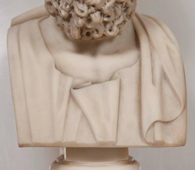 Solid Marble Bust of Homer For Sale 4