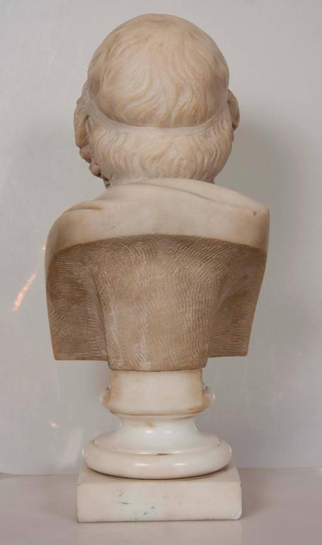 Solid Marble Bust of Homer In Excellent Condition For Sale In Stamford, CT