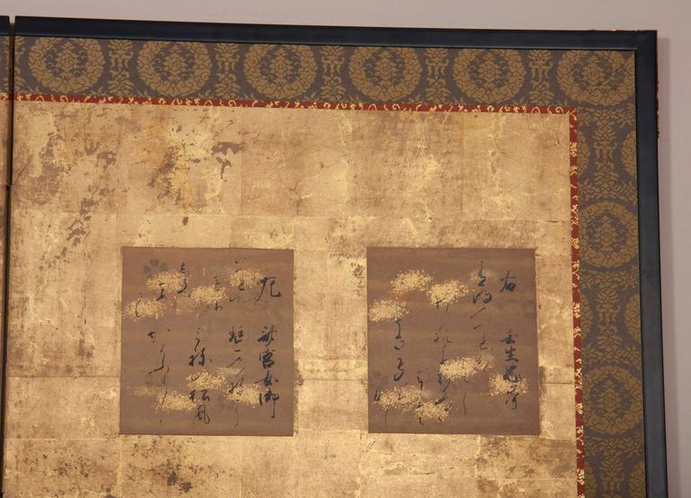 Japanese Six-Panel Screen For Sale 3