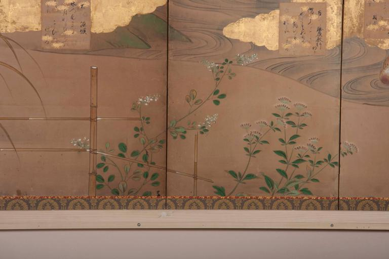Japanese Six-Panel Screen For Sale 2
