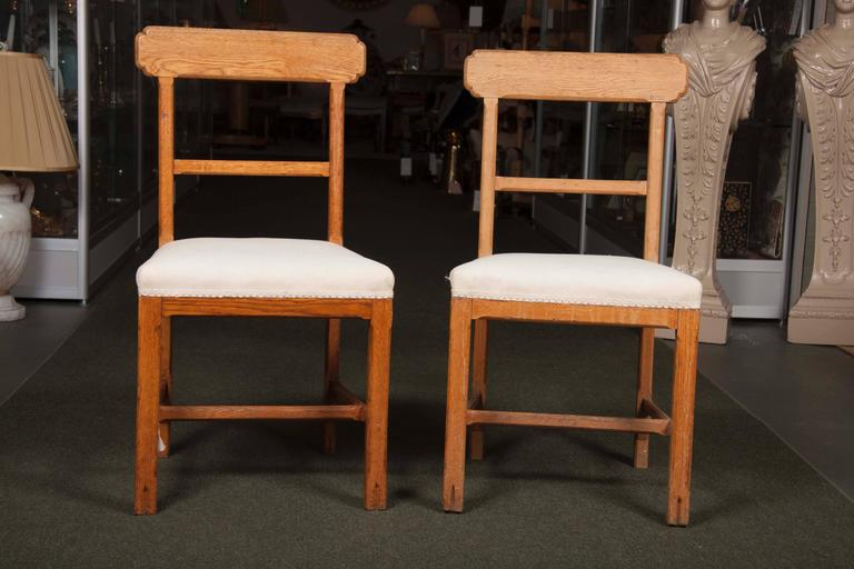 Arts and Crafts Matched Set of Ten Arts & Crafts Dining Chairs For Sale