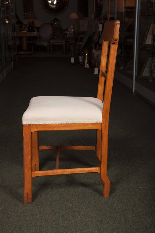 Fruitwood Matched Set of Ten Arts & Crafts Dining Chairs For Sale