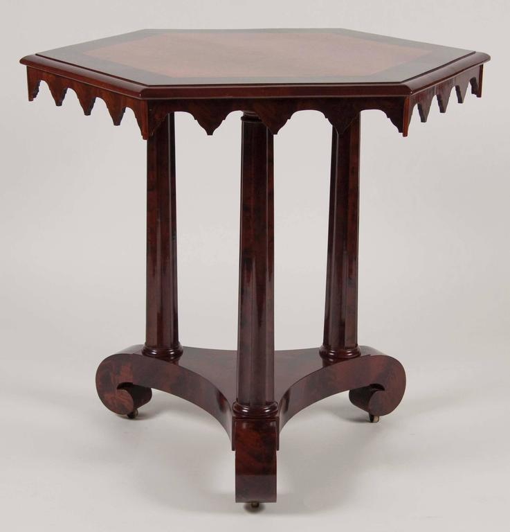 American Gothic Revival Center Table At 1stdibs
