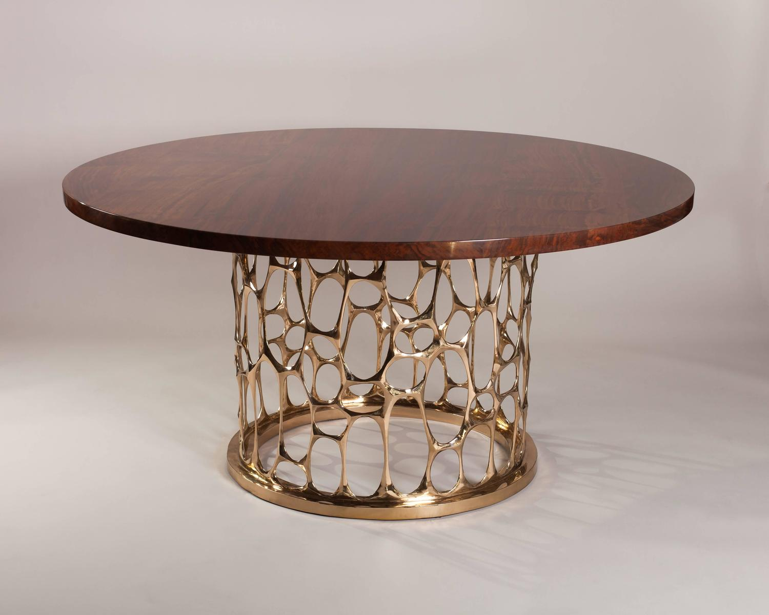Homage to gaudi bronze dining table by nick king at 1stdibs - King furniture dining table ...