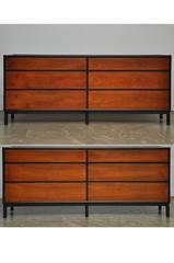 Pair of Dunbar 6 Drawer Dressers by Edward Worley