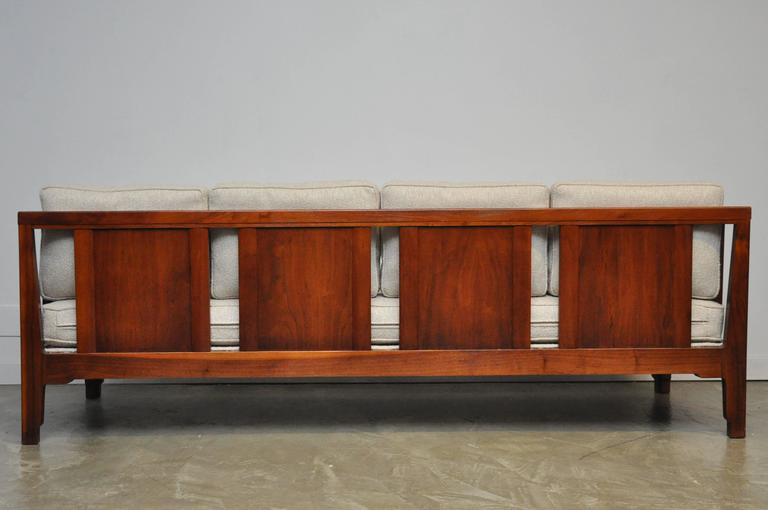 Rare walnut case daybed sofa by Edward Wormley for Dunbar. Fully restored and reupholstered.