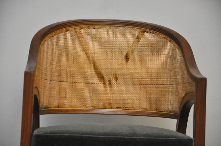 "Cane Dunbar ""Y-Back Captain Chair"" by Edward Wormley For Sale"