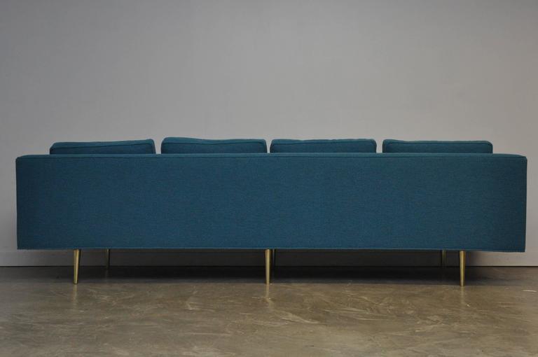 Mid-Century Modern Dunbar Brass Leg Sofa by Edward Wormley For Sale