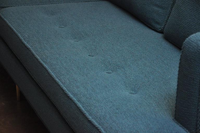 American Dunbar Brass Leg Sofa by Edward Wormley For Sale