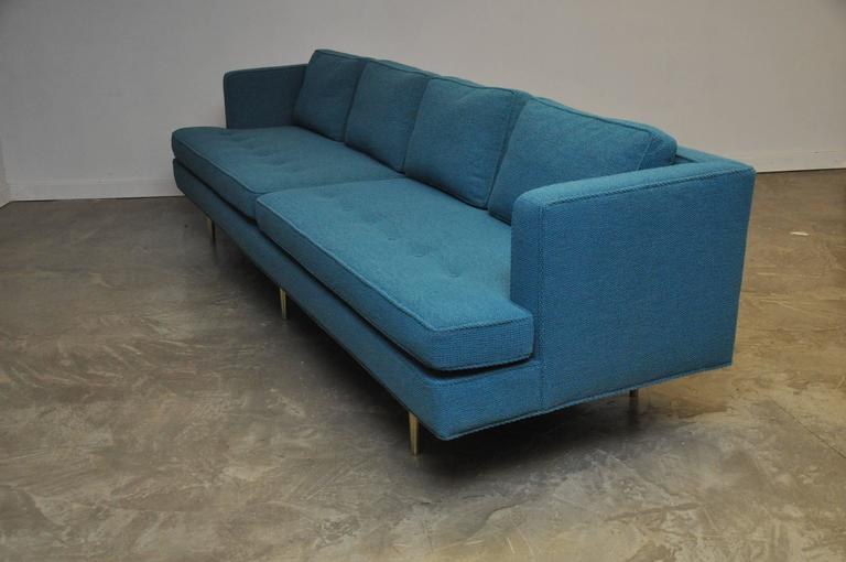 20th Century Dunbar Brass Leg Sofa by Edward Wormley For Sale