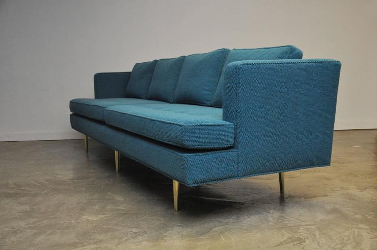 Dunbar Brass Leg Sofa by Edward Wormley For Sale 1