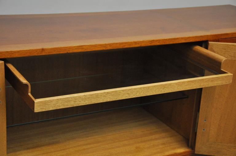 Walnut and Brass Sideboard by Edward Wormley for Dunbar For Sale 1