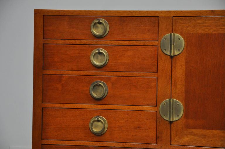 Walnut and Brass Sideboard by Edward Wormley for Dunbar For Sale 3