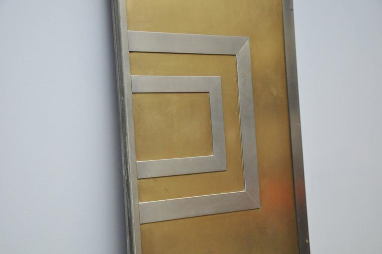 Mid-Century Modern Glamorous Bronze and Stainless Entry Doors For Sale