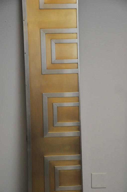 Glamorous Bronze and Stainless Entry Doors In Excellent Condition For Sale In Chicago, IL