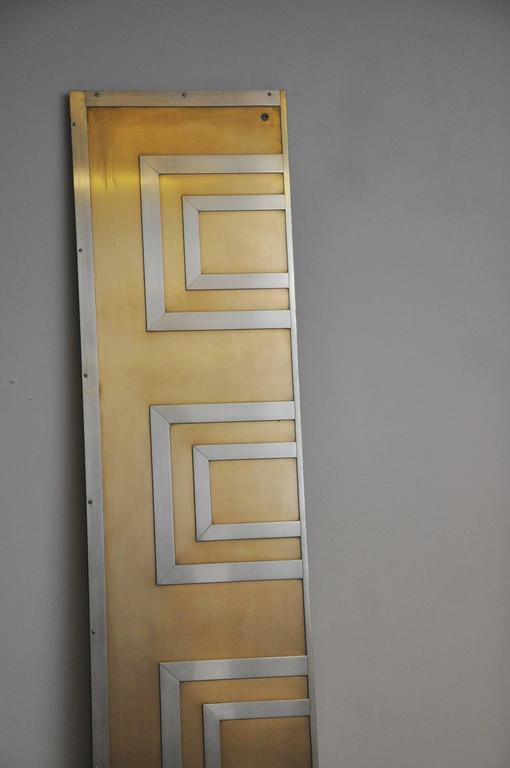 20th Century Glamorous Bronze and Stainless Entry Doors For Sale