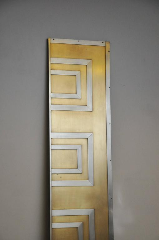 Glamorous Bronze and Stainless Entry Doors For Sale 1