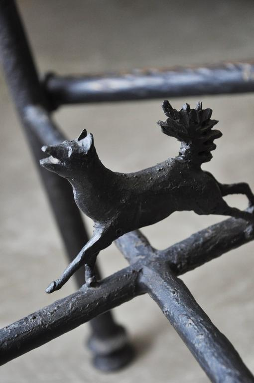 Diego Giacometti Attributed Set Of Three Bronze Stools