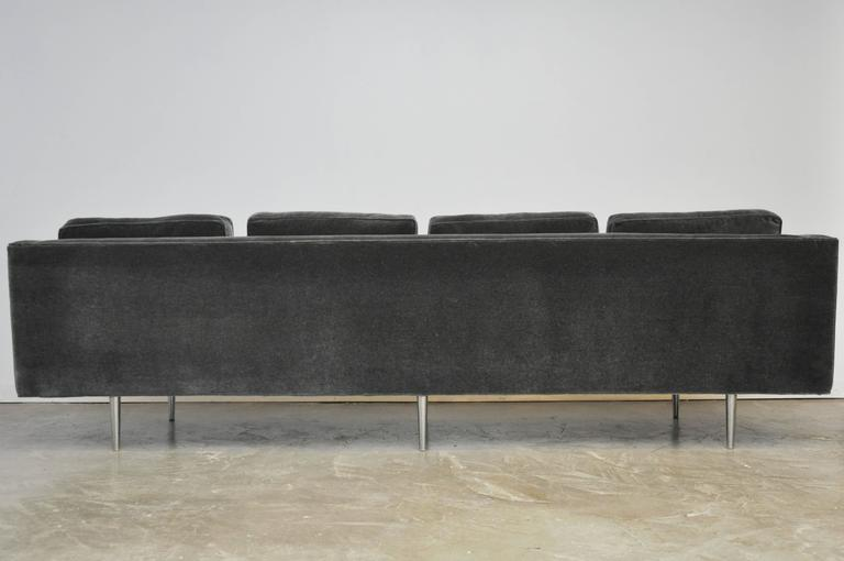 Mid-Century Modern Classic Dunbar Sofa by Edward Wormley in Charcoal Mohair For Sale