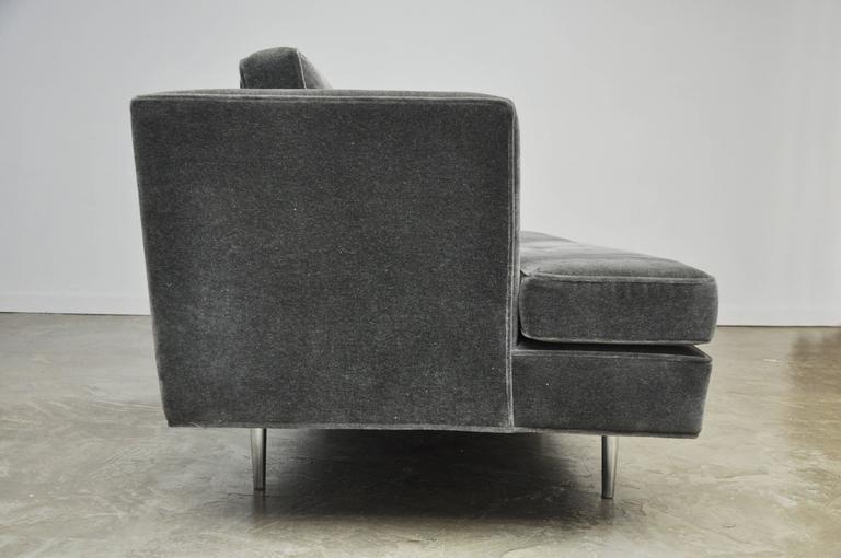 Mid-20th Century Classic Dunbar Sofa by Edward Wormley in Charcoal Mohair For Sale