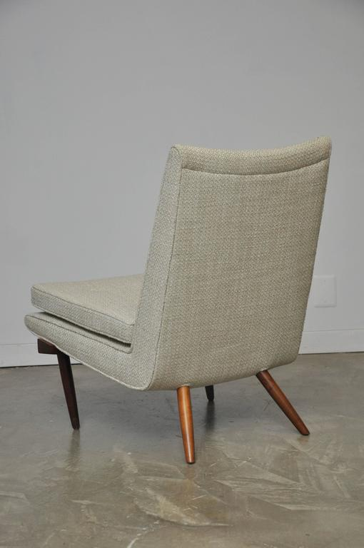 20th Century George Nakashima Walnut Slipper Chair For Sale
