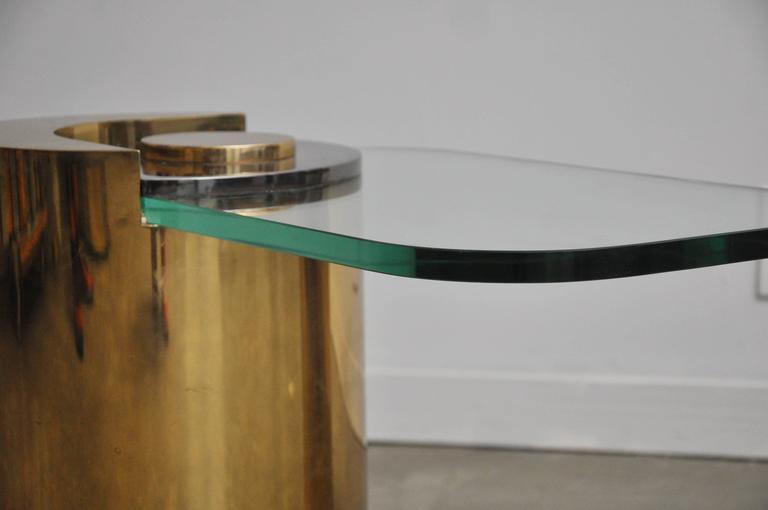 Karl Springer Brass Sculpture Leg Table Pair 4