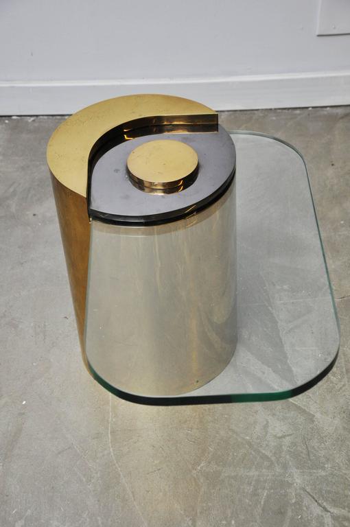 Karl Springer Brass Sculpture Leg Table Pair 7