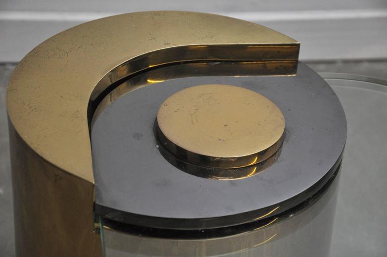 Karl Springer Brass Sculpture Leg Table Pair 6