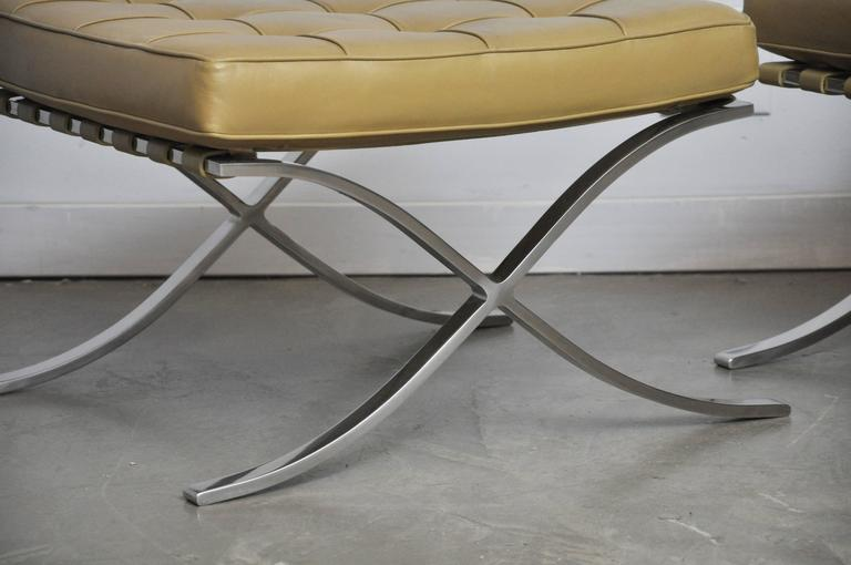 Barcelona Stools by Mies Van Der Rohe For Sale 1