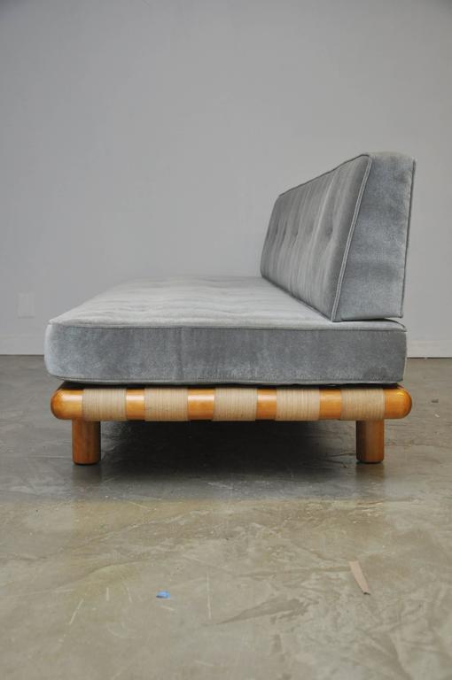 Mid-Century Modern T.H. Robsjohn-Gibbings Strapped Frame Sofa Daybed