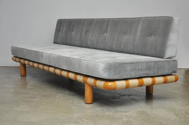 American T.H. Robsjohn-Gibbings Strapped Frame Sofa Daybed