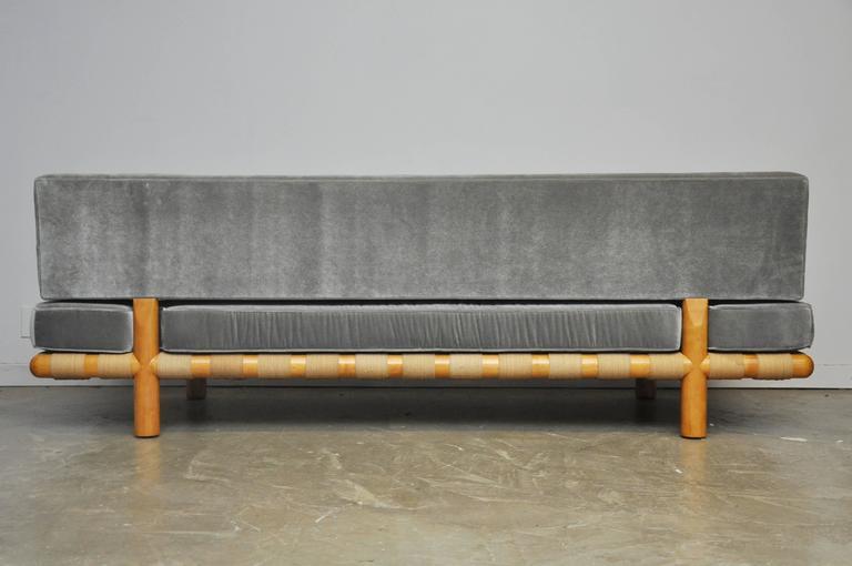 Velvet T.H. Robsjohn-Gibbings Strapped Frame Sofa Daybed