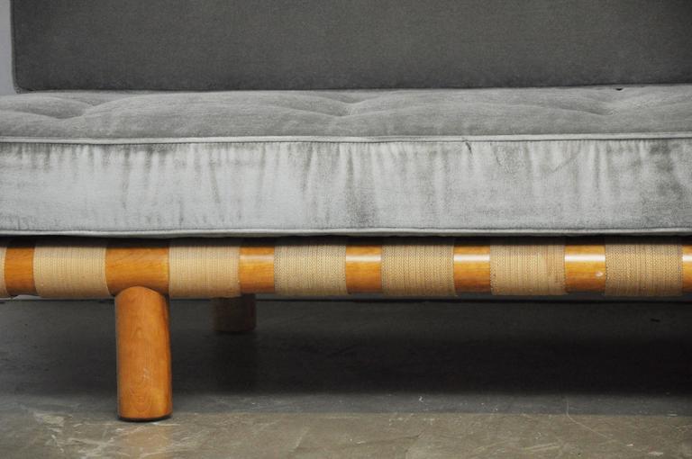 T.H. Robsjohn-Gibbings Strapped Frame Sofa Daybed 2