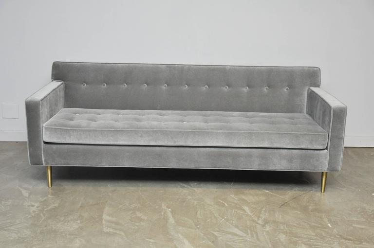 20th Century Dunbar Model 5125 Sofas on Brass Legs by Edward Wormley For Sale