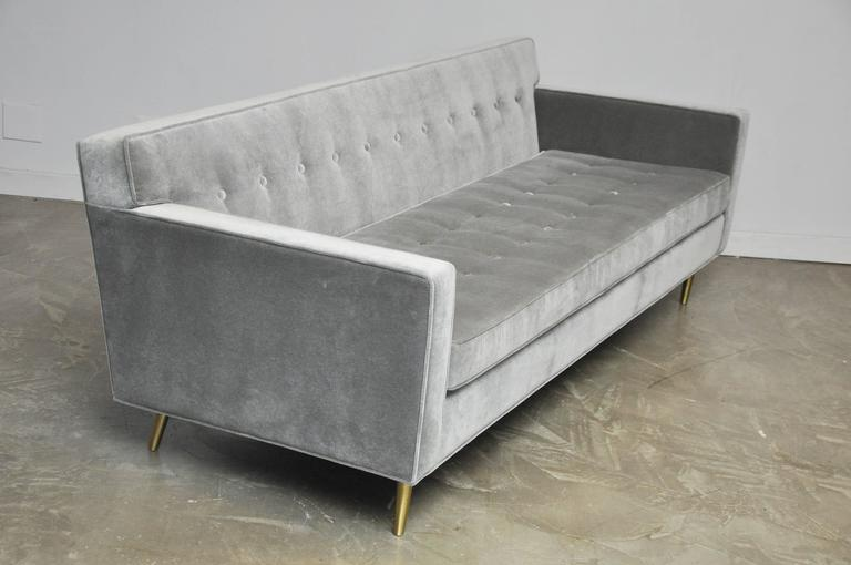Dunbar Model 5125 Sofas on Brass Legs by Edward Wormley For Sale 2