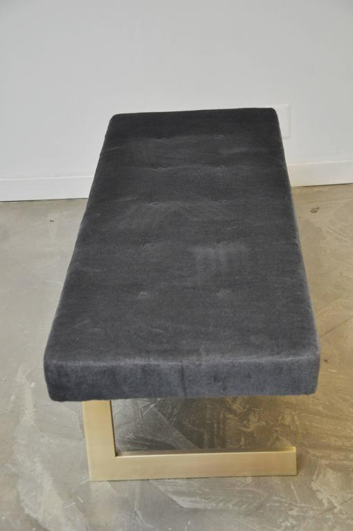 Cantilever Brushed Bronze Base Bench 4