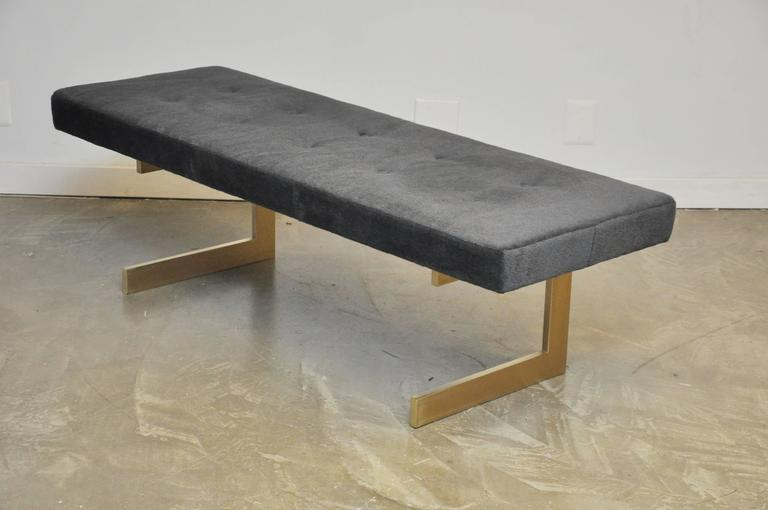 Cantilever Brushed Bronze Base Bench 5