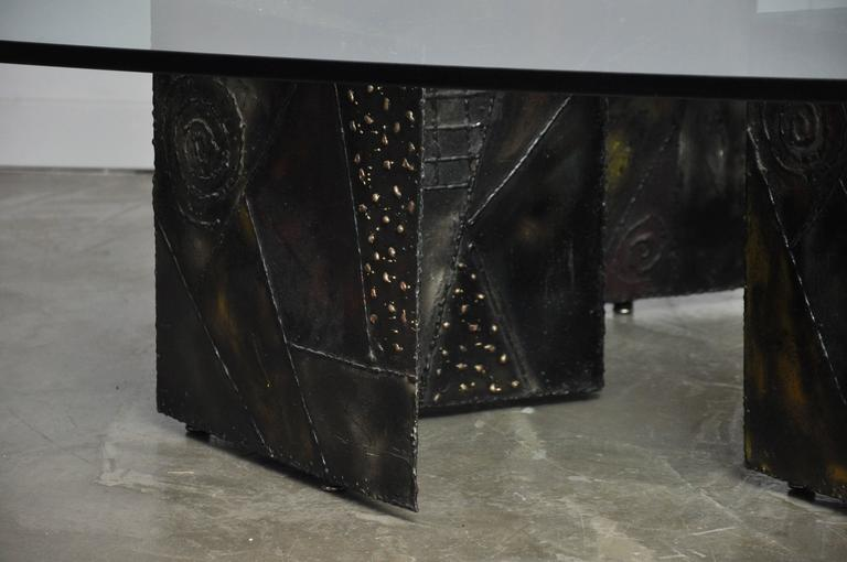 American Paul Evans Double Zig Zag Coffee Table For Sale