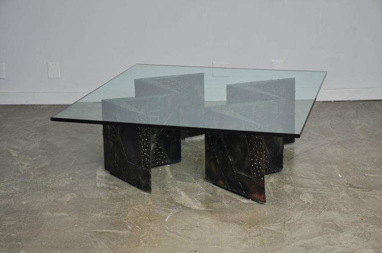 Paul Evans Double Zig Zag Coffee Table In Excellent Condition For Sale In Chicago, IL