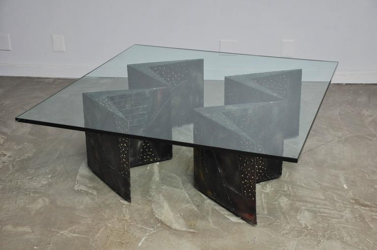 20th Century Paul Evans Double Zig Zag Coffee Table For Sale