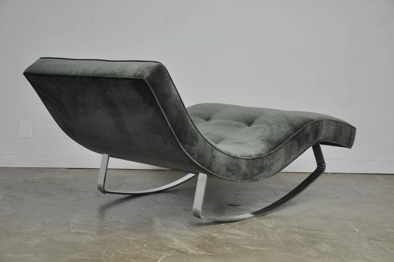Adrian pearsall rocking chaise longue with chrome base at for Adrian pearsall rocking chaise