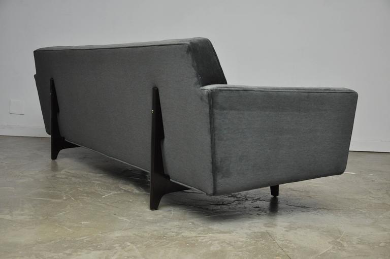 Mid-Century Modern Dunbar Bracket Back Sofa with Flared Arms by Edward Wormley For Sale
